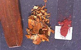 Illustration 2 Bois brésil brut, en copeaux, et en poudre.