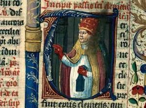 Chaumont, BM, ms. 33, f. 532. Saint Clément Ier