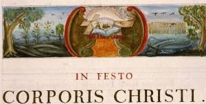 Angers, Cathédrale, ms. non coté [1], f. I. L'Agneau et le livre aux sept sceaux