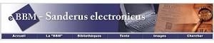 4a – Bandeau de navigation du site web du projet eBBM : Sanderus electronicus © Bibliothèque royale de Belgique, 2006.
