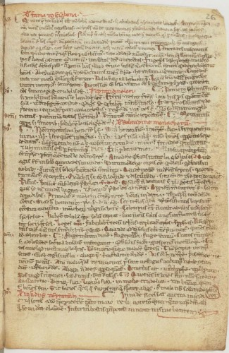 Recueil franciscain (1235-1260 ). BnF, Départ. des Mss, NAL 3245, f. 26r.