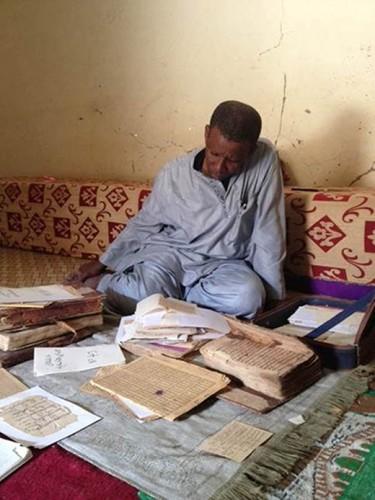 M. Abdoulwahid Haidara, propriétaire de la bibliothèque Mohamed Tahar à Tombouctou.