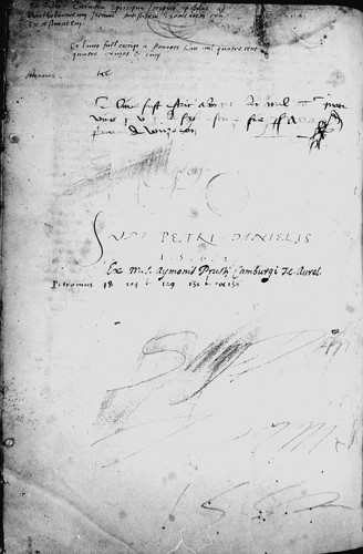 L'ex-libris de Pierre Daniel, ms. Orléans BM 278, f. 162v.