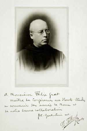 Photo 4 : Photo dédicacée offerte par Dom Quentin à Félix Grat.
