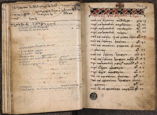 Paris, Institut Français d'Études Byzantines, ms. 19, f. 57v-58.