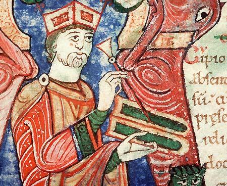Tablettes de cire. Saint Ambroise, Opuscule, Alençon, BM, ms. 11.