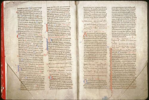 Amiens, Bibl. mun., ms. 115, f. 2v-3. Bréviaire de l'abbaye de Corbie, Corbie, avant 1173.