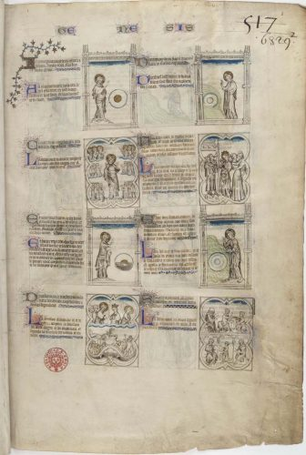 Bible moralisée, Bibliothèque nationale de France, Département des Manuscrits, Français 167 , f. 1r.