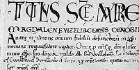 Paris, Arch. nat., Musée, AE II, 138. Titre de Vézelay. Rouleau du B. Vital.