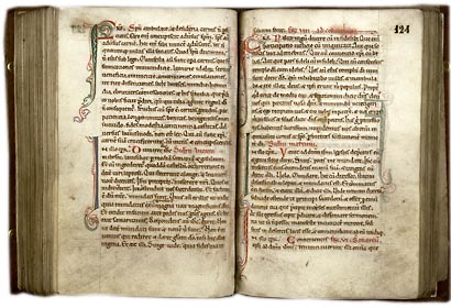 Douai, Bibl. mun., ms. 99, f. 123v-124. Lectionnaire de la messe, France du nord, 2de moitié du XIIe s.