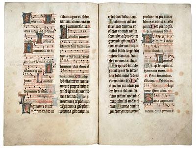 Amiens, Bibl. mun., ms. 124, f. 40v-41. Psautier à l'usage d'Amiens, Amiens, dernier quart du XIIIe s.