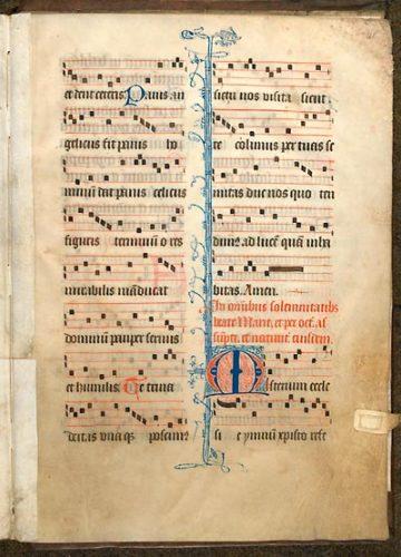 Cambrai, Bibl. mun., ms. 1283, f. 161. Psautier-hymnaire du couvent guillelmite de Walincourt, Nord de la France ? seconde moitié du XVe s.