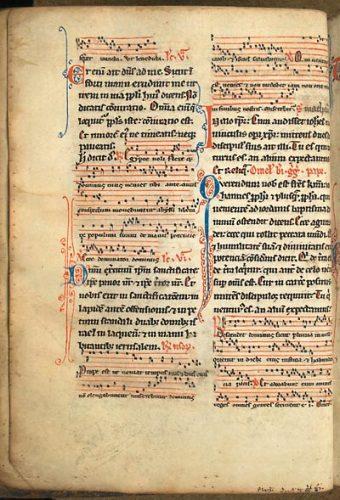 Paris, Bibl. de l'Université, ms. 1220, f. 53v. Bréviaire de Paris, Paris ? premier quart du XIIIe s.