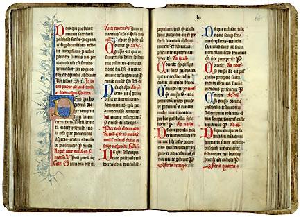 Valenciennes, Bibl. mun., ms. 109, f. 65v-66. Collectaire à l'usage de l'abbaye Saint-Amand, Nord de la France, 1489.
