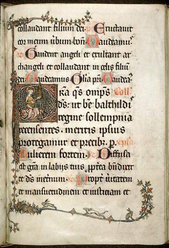 Amiens, Bibl. mun., ms. 157, f. 29. Missel festif de l'abbaye Saint-Pierre de Corbie, Nord de la France, XIIIe-XIVe s.